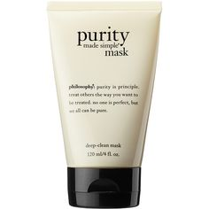 philosophy Purity Made Simple® Mask ($25) ❤ liked on Polyvore featuring beauty products, skincare, face care, face masks, fillers, beauty, makeup, cosmetics, accessories and moisturizing mask