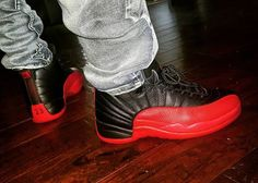 """Gym Clothes for Men : Air Jordan 12 """"Flu Game"""" Popular Sneakers, Latest Sneakers, Sneakers Fashion, Fashion Shoes, All Jordans, Nike Air Jordans, Jordan Tennis Shoes, Fresh Shoes, Jordan Outfits"""