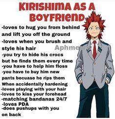 Can he be my boyfriend? My Hero Academia Episodes, My Hero Academia Memes, Hero Academia Characters, My Hero Academia Manga, Anime Characters, Kirishima Eijirou, Black Butler, Nagisa Shiota, Anime Boyfriend