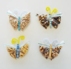 Cinderella's Butterfly Snack Clips Crafts To Make, Crafts For Kids, Butterfly Snacks, Anniversary Crafts, Happy Anniversary, Snack Hacks, Camping Crafts, Disney Crafts, Kids Corner