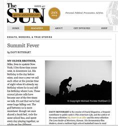 The Sun Magazine: Summit Fever.