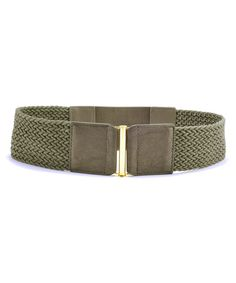 Gray Giselle Leather Stretch Belt