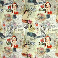 The Fifties - Decoratiestoffen retro - Decoratiestoffen met motief