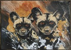 African Wild Dog, Wild Dogs, Dog Art, Pup, Painting, Animals, Animales, Animaux, Painting Art