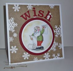 Crafting Haven: Cards For Men Days Of Christmas Day 6.