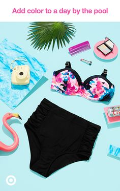 From mix-and-match separates to high neck halters to patterned bikinis, we have suits to suit all shapes and silhouettes. Go all in this summer by shopping these looks and don't miss a single second of fun in the sun.