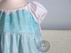 Elsa Inspired Disney Peasant Princess Dress Girls by #MyKidsDrawers.  This one has a cape!