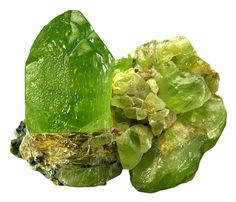 Peridot is a green semi-precious mineral, a variety of olivine. Minerals And Gemstones, Rocks And Minerals, Buy Gemstones, Green Gemstones, Dame Nature, Beautiful Rocks, Mineral Stone, Rocks And Gems, Nature