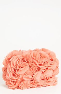 Glint ruffle rose mini clutch~ perfect for spring or brides~ only $88