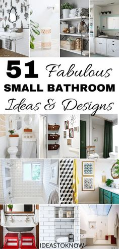 51 Fabulous small bathroom ideas and designs that every one with small bathroom should know. These small bathroom design Small Spa Bathroom, Small Bathroom Ideas On A Budget, Spa Bathroom Decor, Tiny Bathrooms, Small Bathroom Storage, Budget Bathroom, Bathroom Design Small, Diy On A Budget, Bathroom Interior