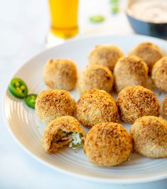 Crunchy & Gooey Air Fryer Jalapeno Popper Balls - Life She Lives Appetizers For Party, Party Snacks, Veggie Side Dishes, Main Dishes, Bacon Wrapped Jalapenos, Game Day Snacks, Jalapeno Poppers, Desserts To Make, Air Fryer Recipes
