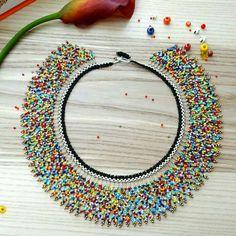 Items similar to Multicolor – Mexican Necklace Choker – beaded – Handmade by Luciana Lavin on Etsy Multicolor – Mexican Necklace Choker – Peyote beaded – Handmade by Luciana Lavin by LucianaLavin on Etsy Beaded Chocker, Beaded Earrings, Crochet Earrings, Tatting Earrings, Bead Jewellery, Beaded Jewelry, Peyote Beading, Beading Projects, Bead Art