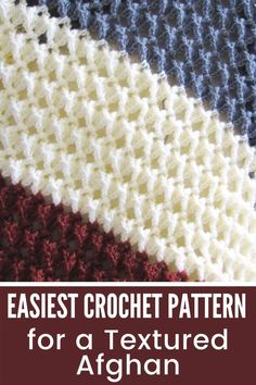 Do you love crochet blanket patterns that are quick to work up? Then you will love this 3D stitch afghan. The tutorial is easy enough for beginners and has a video tutorial for the stitch used. #crochetblanket, #crochetafghan, #crochet, #freecrochetpattern, #crochetbabyblanket Crochet Edging Patterns Free, Crochet Blanket Patterns, Crochet For Beginners Blanket, Free Crochet, Knit Crochet, Crochet Blankets, Afghan Patterns, Baby Blankets, Knitting Patterns