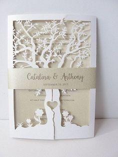 Bajar invitación invitación de boda árbol por LavenderPaperie1