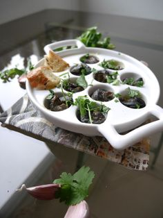 Garlic snails with hint of coriander - pure perfection!