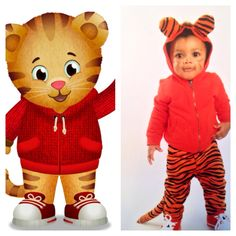 DIY Toddler Costume for Daniel Tigeru0027s Neighborhood  sc 1 st  Pinterest & Almost No Sew Kids Tiger Halloween Costumes | Pinterest | Tiger ...