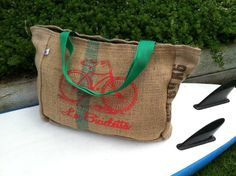 Coffee sack tote with screenprinting? Reusable grocery/tote bags here I come...