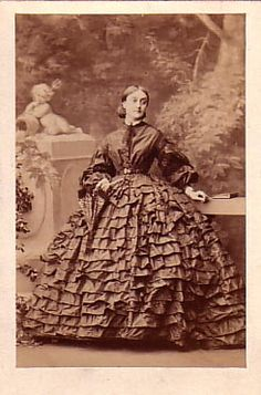 Lady Harriet North, 1861 i wish i had the patince to sew on all those ruffels