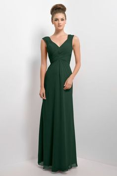 Style 174L bridesmaid dress by Alexia Designs, pictured in Hunter Green.