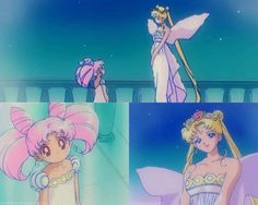 Aw mama usagi with small lady but she kinda looks tired in the last box but she's still beautiful regardless <3
