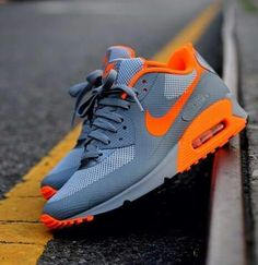 Gray and Orange....would love them if they had leather on top!