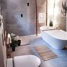 Dreaming of an extravagance or designer master bathroom? We've gathered together lots of gorgeous bathroom some ideas for small or large budgets, including baths, showers, sinks and basins, plus master bathroom decor suggestions. Dyi Bathroom, Grey Bathrooms, Bathroom Inspo, Bathroom Styling, Bathroom Interior Design, Bathroom Inspiration, Small Bathroom, Master Bathroom, Bathroom Black