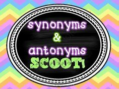 Synonyms and Antonyms Scoot! (task cards) from live love teach on TeachersNotebook.com -  (14 pages)  - This FUN game will get kids moving while practicing synonyms and antonyms!