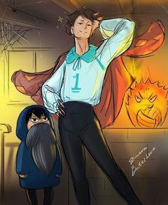 """2,538 Me gusta, 26 comentarios - momo (@trashykawa.san) en Instagram: """"I really have like a huge thing for the haikyuu/howls moving castle crossover bC OiKaWa aNd iWa aNd…"""""""