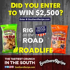Daily-9/17. Win $2,500 with Rig on the Road Sweepstakes!