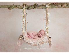 Digital prop/backdrop (Woodland Swing Pink Floral)