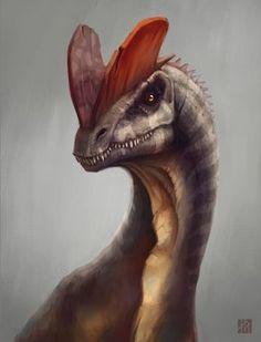 ArtStation - Dilophosaurus, William Gozak : Classification Règne Animalia Classe Sauropsida Ordre Saurischia Sous-ordre Theropoda Super-famille † Ceratosauria Famille † Dilophosauridae