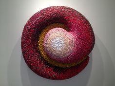 "Federico Uribe | ""Struggle"" | 2013 | color pencils | 48 x 12 x 48 in."