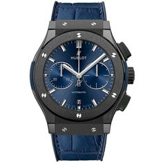 Hublot Classic Fusion Chronograph 45mm 521.cm.7170.lr Watch (11,655 CAD) ❤ liked on Polyvore featuring men's fashion, men's jewelry, men's watches, ceramic, mens chronograph watches and hublot mens watches