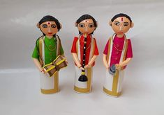 Quilled golu nadaswaram molam jalra set Quilling Dolls, Paper Quilling, Indian Crafts, Indian Home Decor, Clay Art, Disney Art, Art Drawings, Diy And Crafts, Disney Characters