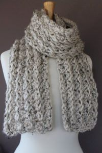 Here's a new Chunky Crochet Scarf Pattern to try! I hope you all enjoy! Materials Needed N15/10mm Crochet hook 3 Skeins Bulky Size 6 Yarn (Yarn in picture is LionBrand Hometown) Yarn Needle Abbreviations SC = Single Crochet CH = Chain DC = Double Crochet STS = Stitches ST = Stitch NOTE:  Should you want …