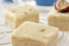 Lemon Slice Recipe - Lemon and Passionfruit Slice