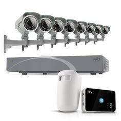 SVAT 8CH Smart Security DVR with 8 Super Resolution Outdoor 100ft Night Vision Security Cameras with IR Cut Filter 500 GB HDD iPhone, Android, Blackberry, iPad, PC & Mac compatible (11031) - Bonus Driveway Motion Alert System Included by SVAT. $644.99. Extremely Easy to Set Up and Use You'll be surprised how easily this SVAT system operates. It functions just like a computer, with a mouse for pointing and clicking and an intuitive icon-based Smart Menu that pr...