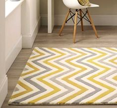 Cabone Yellow / Grey Wool Rugs | Modern Rugs