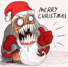 Evil Santa by Black-Charizard on DeviantArt Christmas Jingles, Dark Christmas, Christmas Games, Christmas Quotes, Naughty Kids, Bad Santa, Gymnasium, Holiday Pictures, Screen Printing