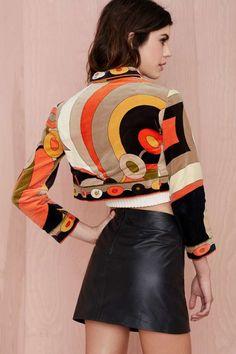 Emilio Pucci Vintage Pamela Felt Bolero - Jackets + Coats