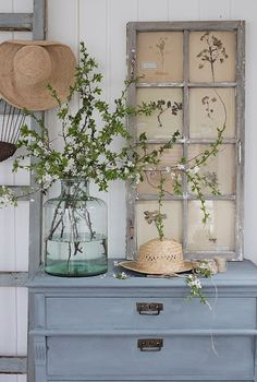 Vintage Farmhouse Decor Home decor ideas with painted furniture light blue dresser Vintage Industrial Decor, Vintage Decor, Rustic Decor, Farmhouse Decor, Vintage Farmhouse, Industrial Style, Industrial Bedroom, Industrial Farmhouse, Bedroom Vintage