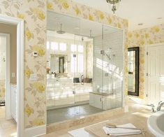 Abundant natural light and a prominent shower makes this bathroom a show stopper! More dream bathrooms: