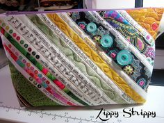 Zippy Strippy with Selvages by sew bee it, via Flickr