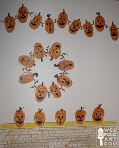 Thumbprint Pumpkins! Cute!