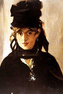 Berthe Morisot de Chapéu Preto - 1872