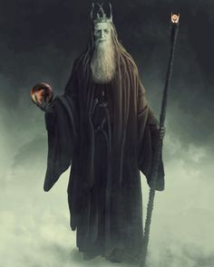 Gandalf the Black -- an artist's rendition of what Gandalf might look like if he had succumbed to temptation and wore the ring