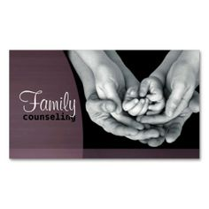 Family Counseling Business Card. I love this design! It is available for customization or ready to buy as is. All you need is to add your business info to this template then place the order. It will ship within 24 hours. Just click the image to make your own!
