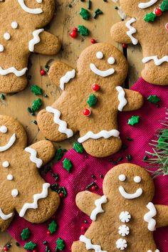 My Favorite Gingerbread Cookies Sally S Baking Addiction Gingerbread Men Cookies Sugar Spun . Spritz Cookie Recipe, Ginger Bread Cookies Recipe, Ginger Cookies, Cookie Recipes, Cookies Soft, Almond Cookies, Chocolate Cookies, Bread Recipes, Dessert Recipes