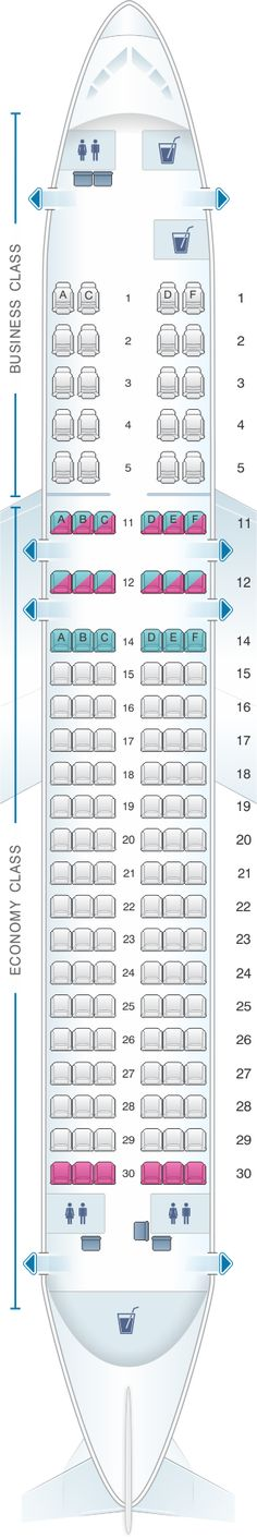 Seat Map Kingfisher Airlines Airbus A320 200 134PAX