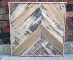Asymetrical Pallet Wood Wall Art 24 x 24
